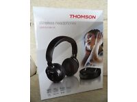 New/Never Used – THOMSON WIRELESS HEADPHONES – Black