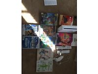 Wii games console with wii fit and zumba fit