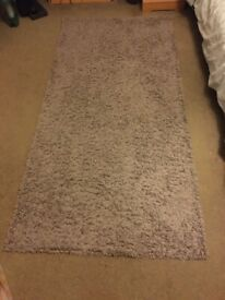 Grey pile rug - 100x200cm