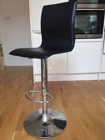2 Debenhams Black 'Madison' gas lift bar stool for sale, used in good condition, pickup only