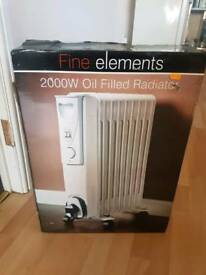 Portable electric oil heater