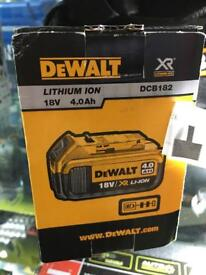 DeWalt DCB182 4.0AH 18v li-ion battery