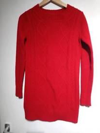Funk'n'soul red long jumper in size 8