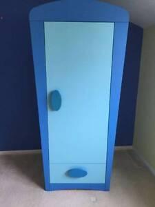 IKEA Mammut blue childrens wardrobe BINB Engadine Sutherland Area Preview