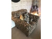 Lounge suite - dark taupe - grand settee (4 seater) large settee (3 seater) chair and footstool
