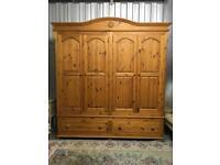 4 door pine wardrobe delivery and rebuild available