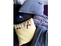 HAND KNITTED CUSHIONS JUST IN TIME FOR THAT UNIQUE AND INDIVIDUAL XMAS PRESENT
