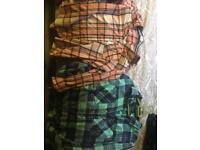 Small tartan shirts
