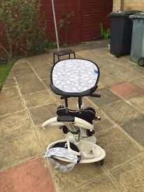 Cream black kids smart trike, 1yr old but hardly used in good condition