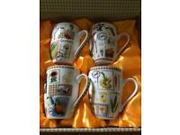 BRAND NEW Set of Four Gift Boxed Gardeners Mugs