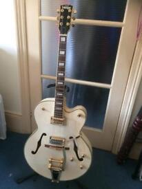 Vintage white electric guitar