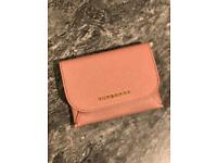 Burberry authentic Leather Coin Case with Removable Card Compartment