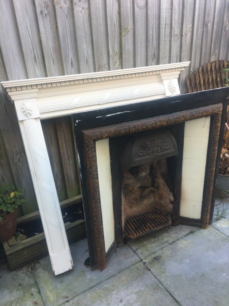 Victorian fireplace with surround
