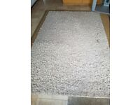 Large shaggy woolen rug 7ft9 by 5ft2