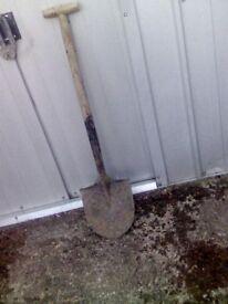 old garden spade