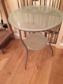 Frosted Glass side or occasion table