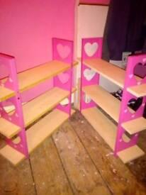 Pink girls shelves set of three