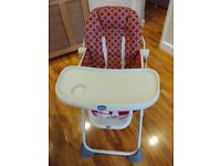 Chicco high chair in excellent condition