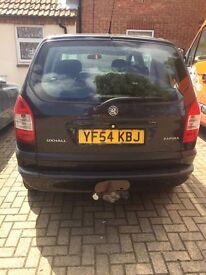 Vaxahall zafira life low mileage no mot as needs a new gearbox still runs well