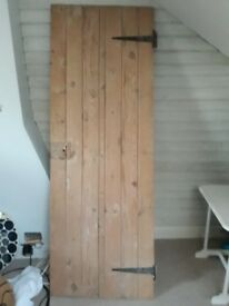 Lovely Victorian stripped pine internal door