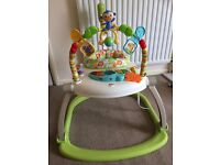 Fisher Price Space Saver Jumperoo Baby Bouncer - Folds down for storage