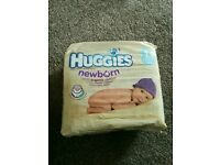 Huggies newborn size 1 nappies x 27. Sealed pack