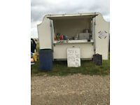 A BDS CATERING TRAILER WITH SUNDAY PITCH ONE OWNER SINCE NEW NOW RETIRING