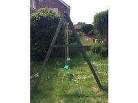 Wooden Double Swing