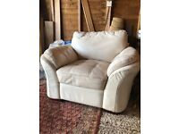 FREE - arctic white leather armchair in good condition