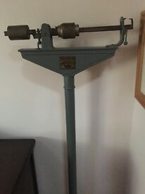 Antique doctors weigh scales
