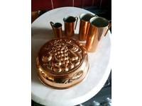Copper measurement cups and tim