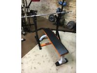 Mirafit Squat & Dip Rack + weight bench, press bench
