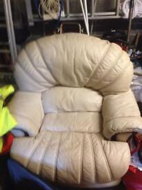 Reclining rocking and swivel chair
