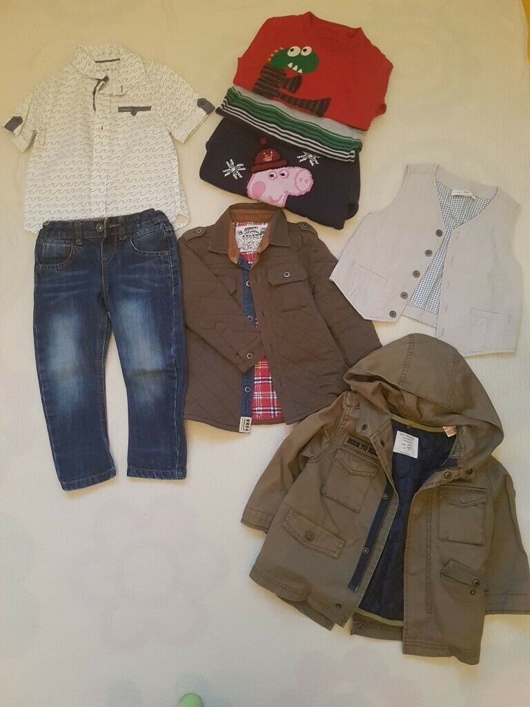 7a8887d5 Bundle of boy clothes. Sizes: 2-3 yrs, 8 pieces. Brand; M&S and Zara ...