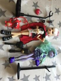 Monster high dolls as new