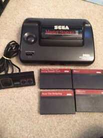 Sega master system 2 console and bundle of games
