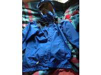 Blue north face jackets