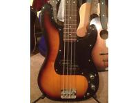 Squire P bass guitar