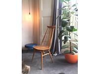 Ercol original high backed 1960's chair
