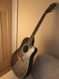 1980 Aria 6 string bowl back electro-acoustic, part of large private collection * see other Ads *