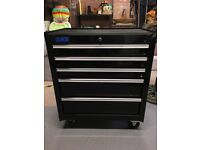 SGS Engineering Mobile Tool Cabinet Black Nearly New Professional Range 5 Drawer Roller