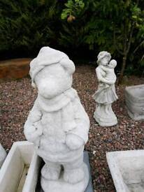 Concrete Teddy Garden Ornament