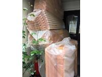 Leftover pipe insulation