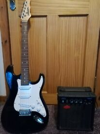 Guitar and practice amp.