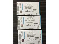 3 x tickets for Olly Murs gig.