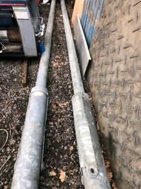 Based Hinge Lamp Post 5 Meters Galvanised
