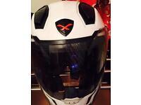 WHITE NEXX MOTORBIKE HELMET