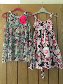 2 x dresses from H&M size 4-5 years.