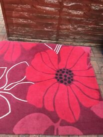 Extra large poppy rug size is 12ft by 6ft