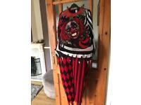 Killer clown halloween suit